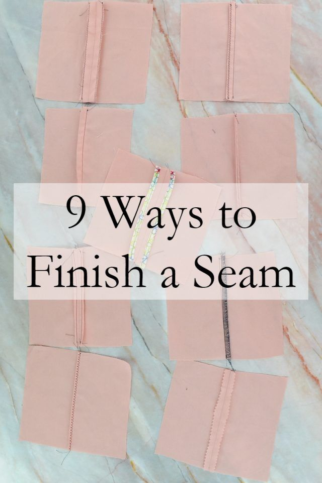 Sewing Pattern : 9 seam finishes you should know