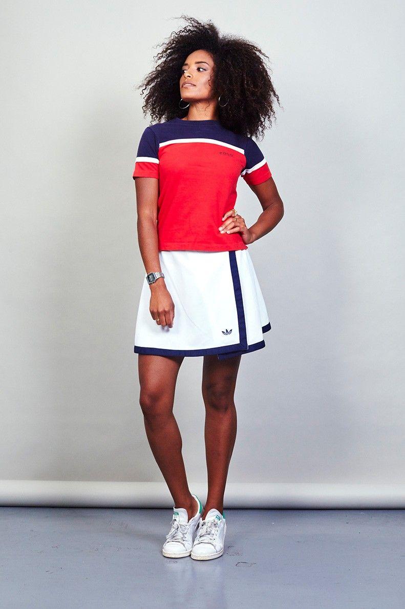 Vintage 80's white Adidas tennis skirt Tennis skirt