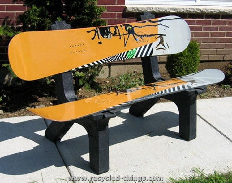 Recycled Snowboard Ideas Recycled Things Diy Furniture Chair Skateboard Furniture Diy Bench