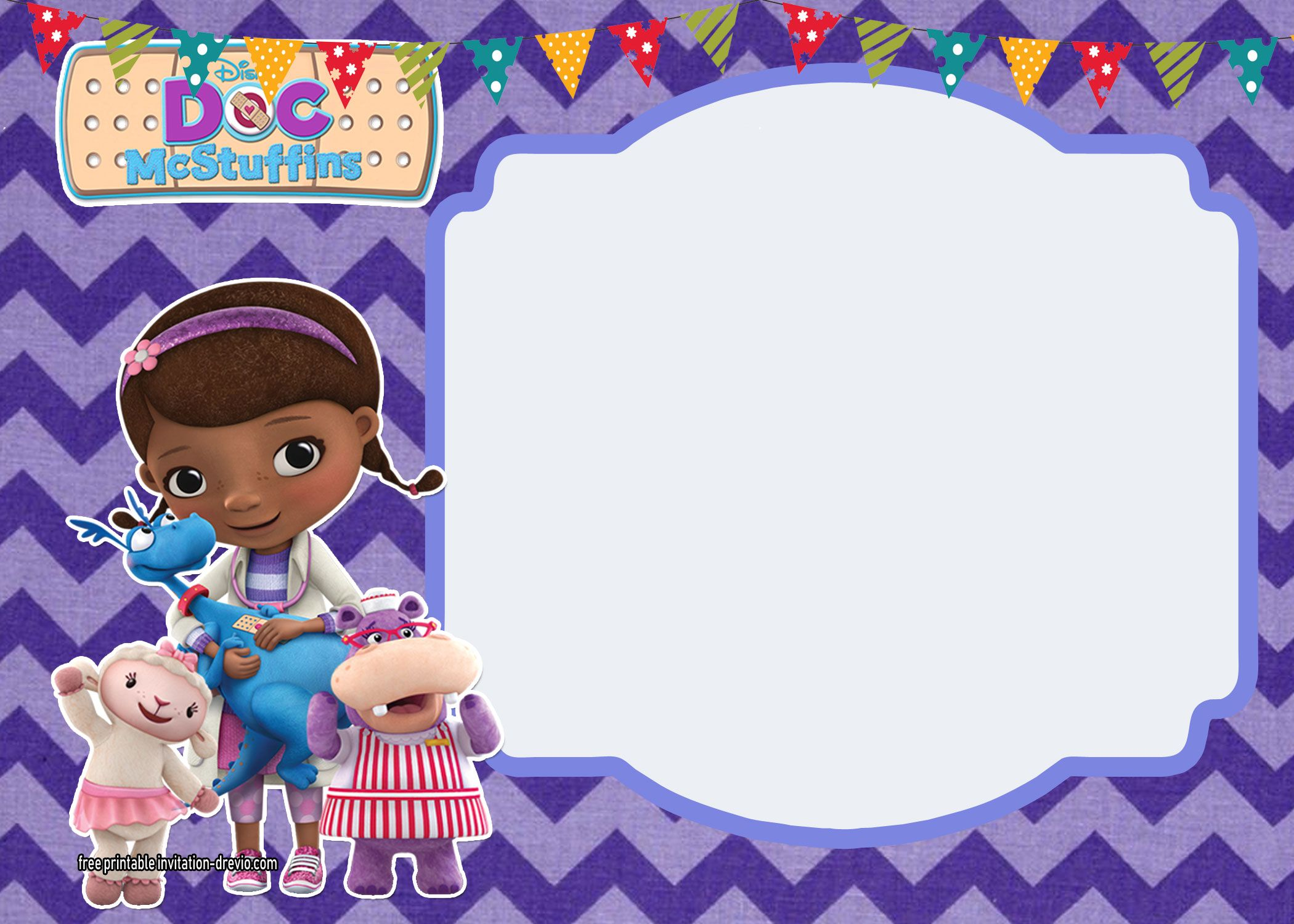 Doc McStuffins Birthday Invitation Templates