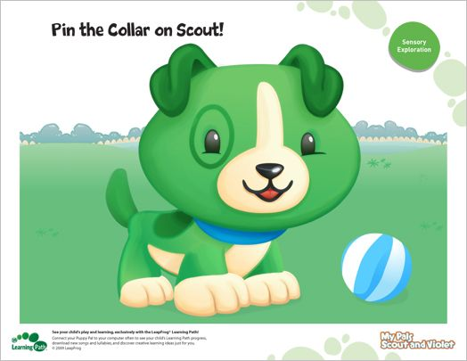 Pin The Collar On Scout Baby First Birthday Boy Birthday