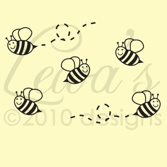 Bumble Bee Wall Decals (Set of 6) | Bumble bees and Babies