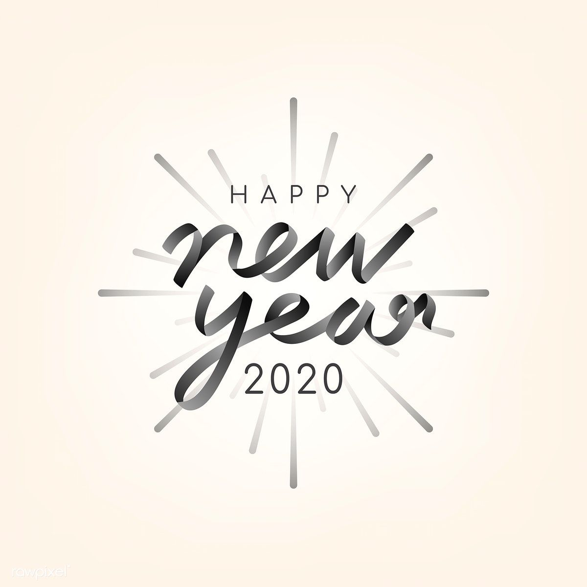 happy new year 2020 typography illustration free image by rawpixel com ningzk v in 2020 happy new year typography new year typography new year doodle happy new year 2020 typography