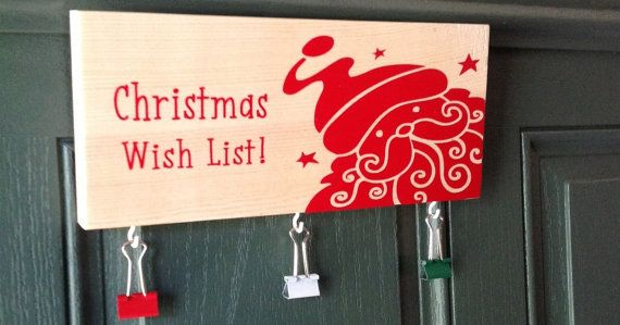 Christmas+Wish+List+Solid+natural+wood+hand+sanded+by+likeIsaid