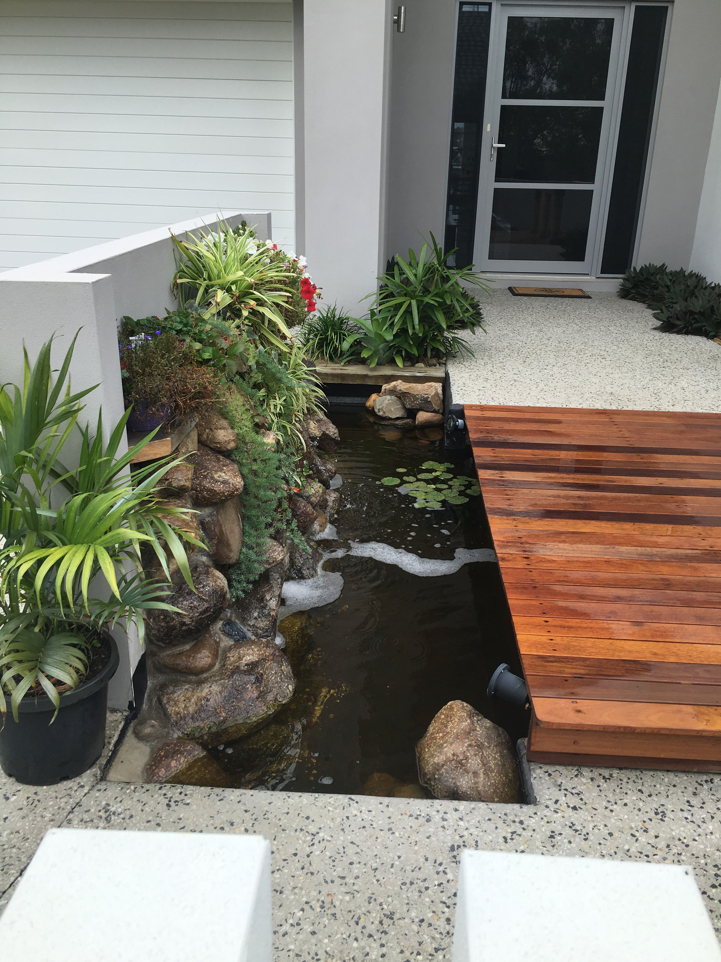 Pin by Tarnz on B2 | Garden pond design, Yard water ...