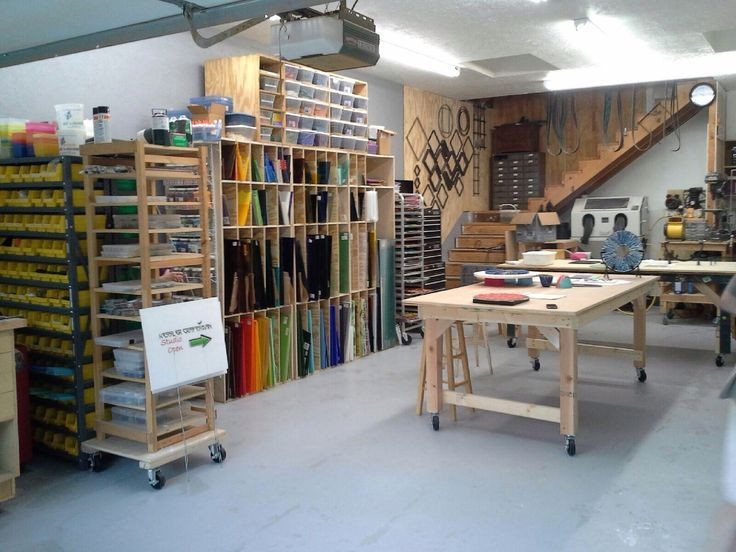 Image Result For Stained Glass Studio Setup Stained Glass - Craft room home studio setup