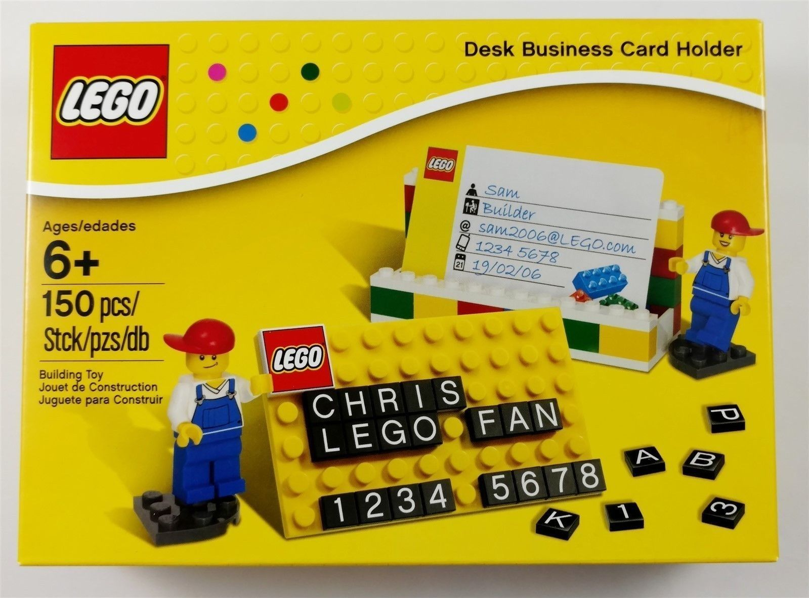 Lego 850425 Desk Business Card Holder Retired NEW NIB Sealed ...