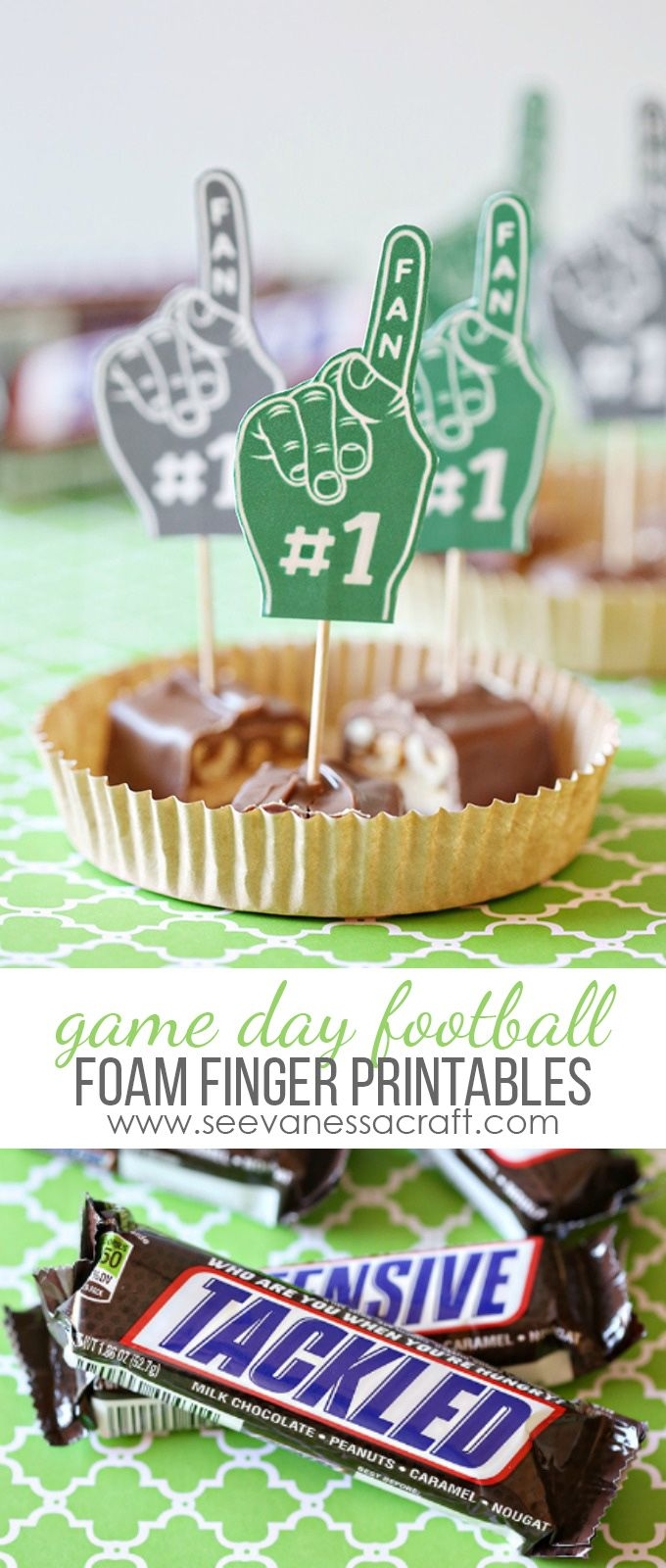 Printable Game Day Football Foam Fingers #ScoreAtCVS #ad - perfect for tailgating or a football party at home!