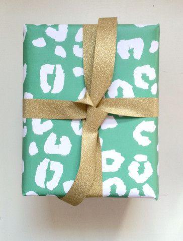Leopard Gift Wrap // Evelyn Henson www.evelynhenson.com
