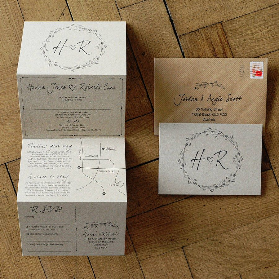 woodland story wedding invitation set by feel good wedding ...