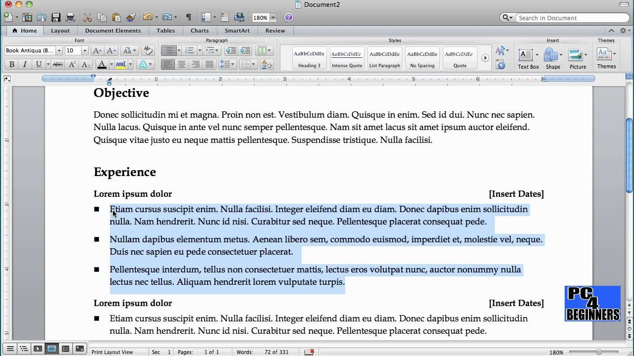 How To Make Resume In Word 2010