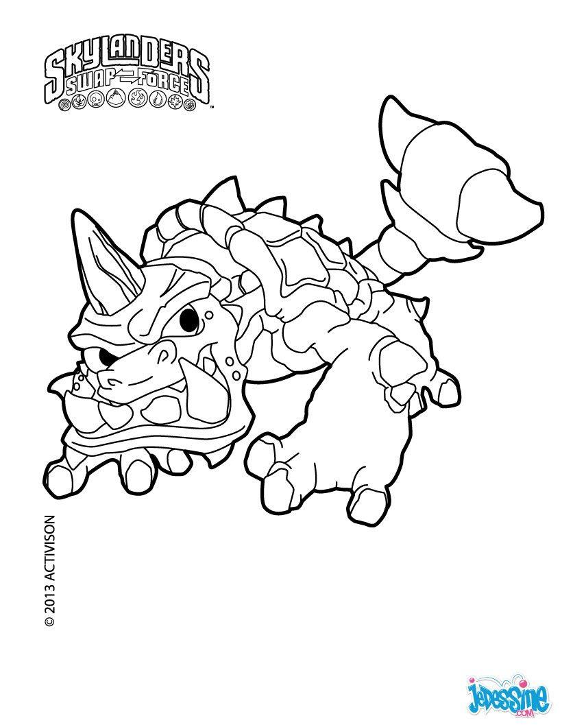 Slobber Tooth Coloriage Skylanders Coloring Pages Skylanders