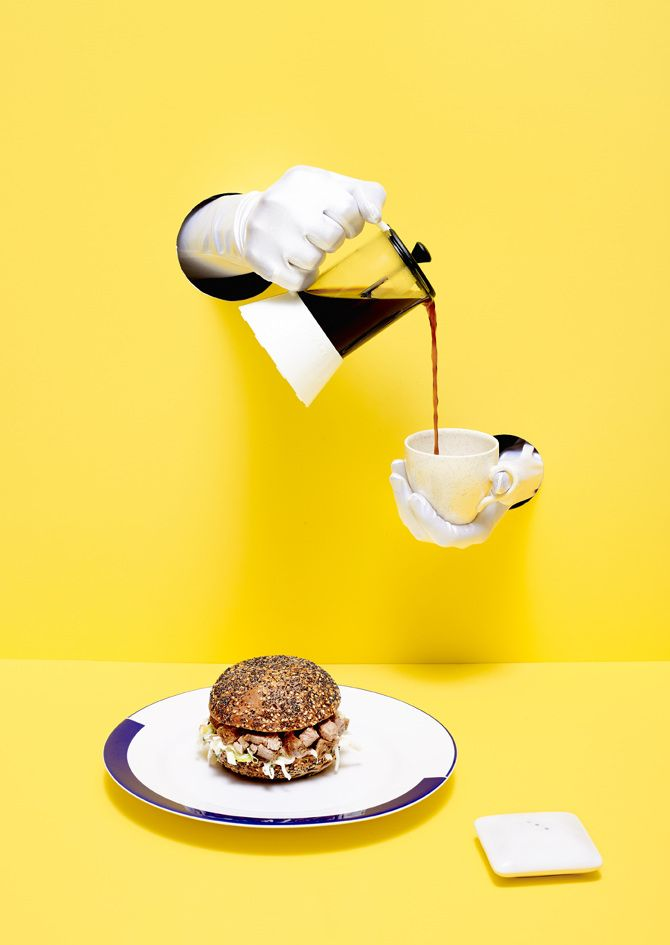 in her latest series for aussie food magazine rare medium rentsch brings a dash of surrealism and