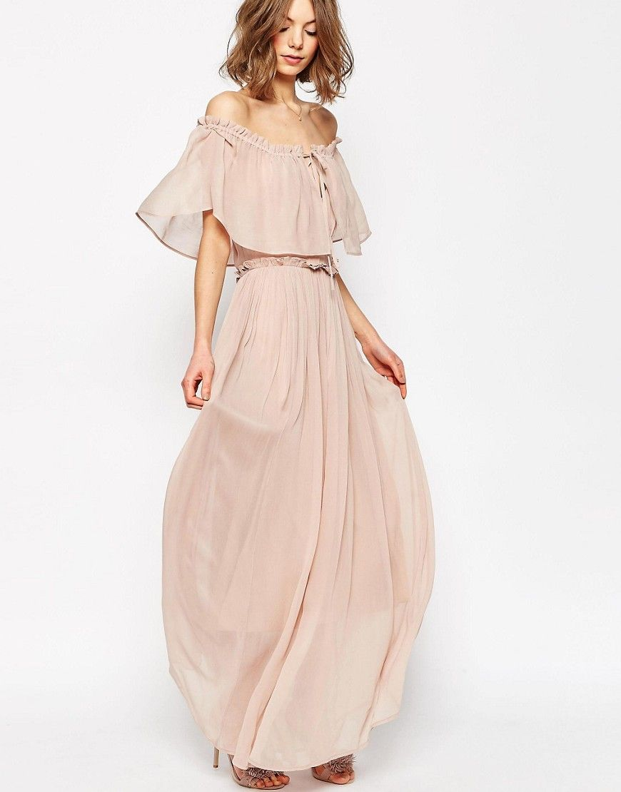 Image 3 of ASOS Ruffle and Tiered Off Shoulder Maxi Dress
