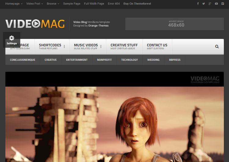 VideoMag HTML5 Template | Thats Journal | Pinterest
