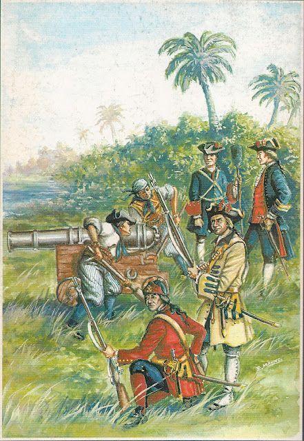 Tropas En Cartagena De India 1741 Historia De España Tercios Españoles Siglo Xviii