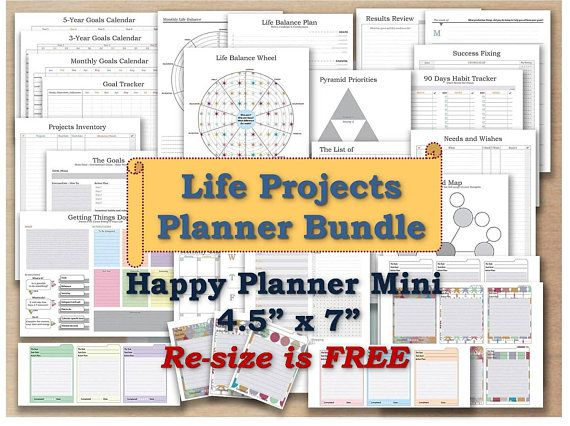 Happy planner mini inserts printable pages mambi agenda refill - Agenda Planner Template