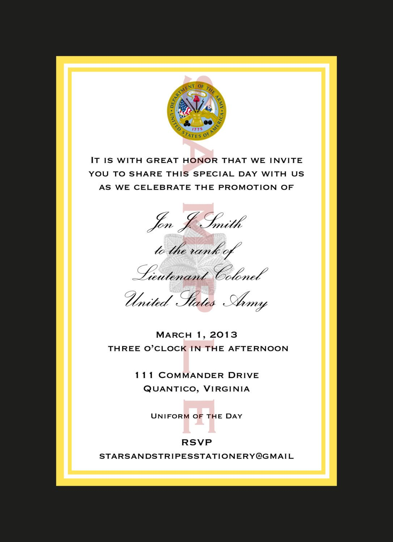 Marine Corps Retirement Ceremony Invitation httpwwwetsycom