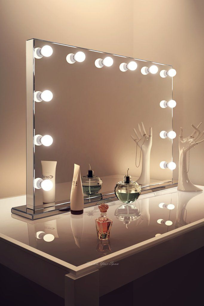 Large Landscape Free Standing Hollywood Mirror With Cw Or Ww Led