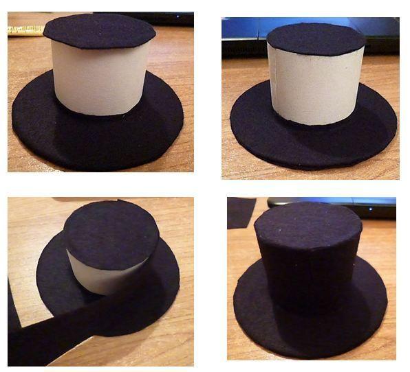 un chapeau un tuto le mini haut de forme d co noel pinterest haut de forme les minis. Black Bedroom Furniture Sets. Home Design Ideas