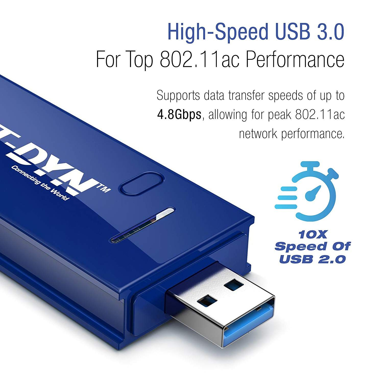 NET-DYN USB Wireless WiFi Adapter,AC1200 Dual Band 5GHz and 2.4GHZ