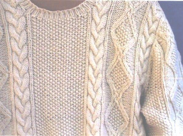 Knit A Simple Sweater Pattern : Men s sweater easy knitting pattern patterns