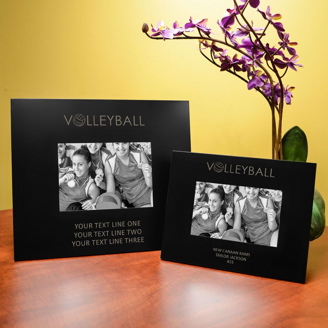 Personalized Volleyball Picture Frame Word 4x6 Metal Photo Frame Youth Volleyball Roo Coach Picture Frame Metal Photo Frames Custom Picture Frame