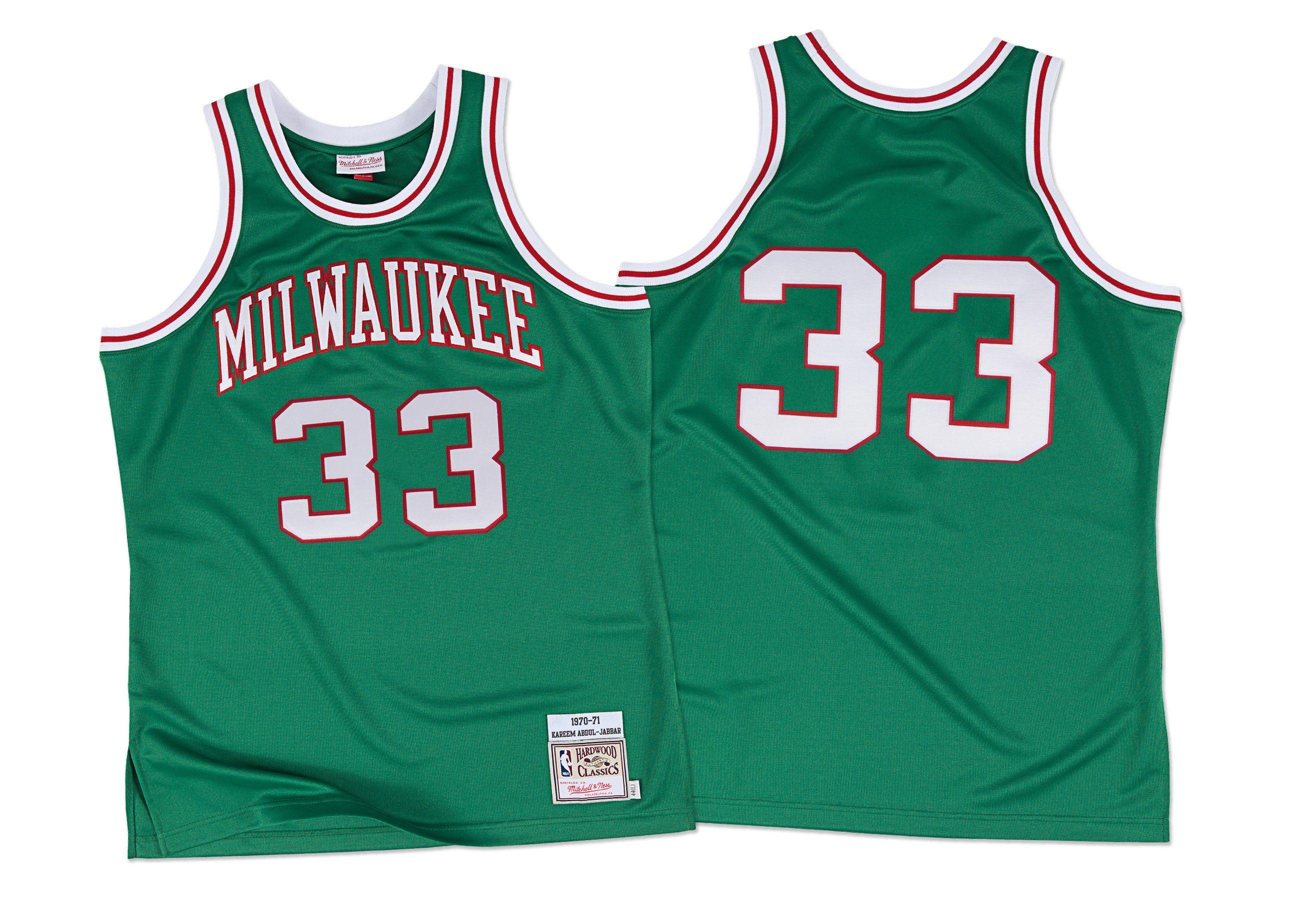 ... Mitchell Ness Milwaukee Bucks Ray Allen 34 Swingman Jersey GreenPurple Kareem  Abdul-Jabbar 1970-71 Authentic Jersey Milwaukee Bucks ... 393e31d2a