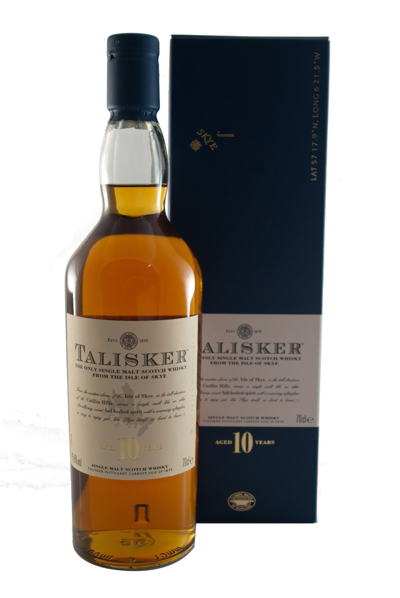 Talisker 10 Years 45 8 Vol 0 7l Malt Whisky Macallan Whiskey Bottle Malt