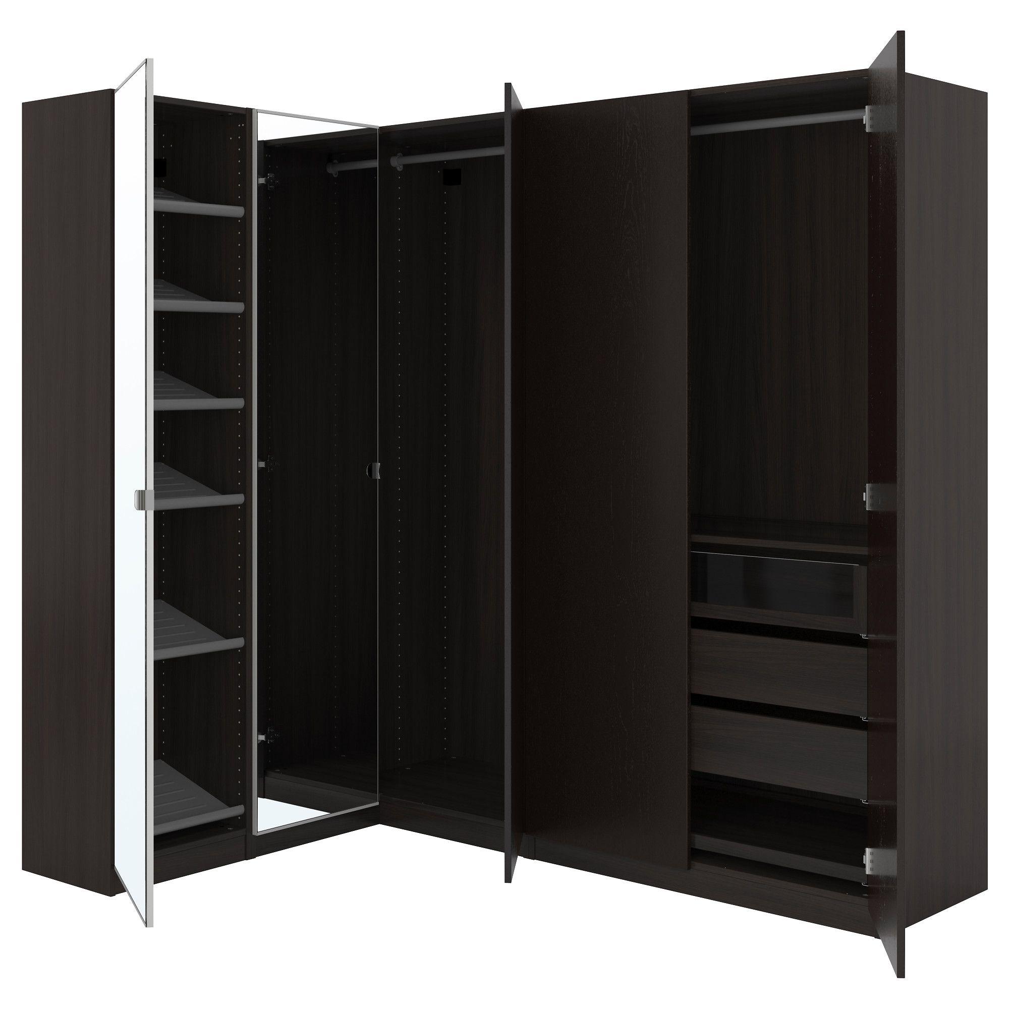 Pax Corner Wardrobe Black Brown Nexus Vikedal Corner Wardrobe  # Meuble Tv Nexus