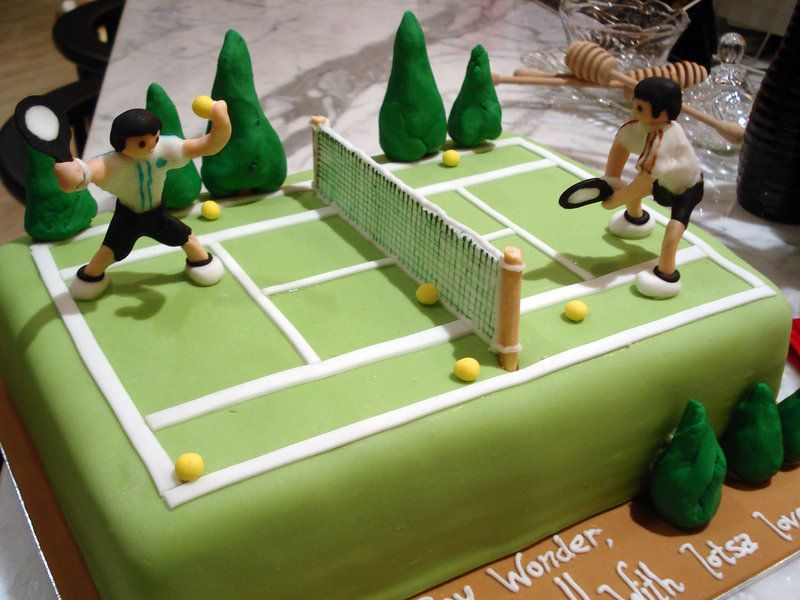 Tennis By Sliceofcake On Deviantart Tennis Cake Tennis Birthday Tennis Birthday Party