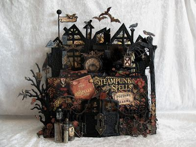 annes papercreations: Steampunk Spells spooky House stand