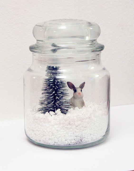 Diy une jarre de no l diy weihnachten deko - Winterlandschaft deko ...