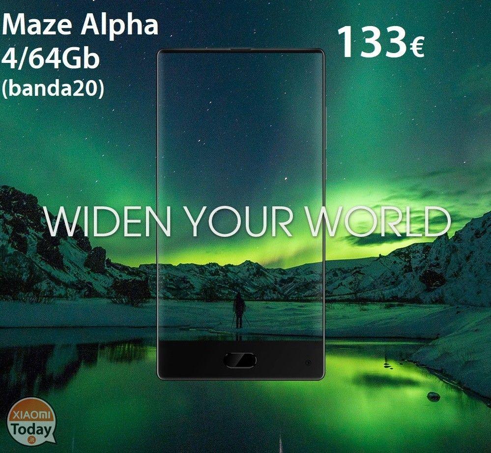 Codice Sconto - Maze Alpha 4/64Gb Bezel Less (banda 20) a 133€ #Xiaomi #Android #Android7 #BezelLess #BorderLess #Edge #Maze #MazeAlpha #Nougat #Offerta #Smartphone https://www.xiaomitoday.it/?p=24285