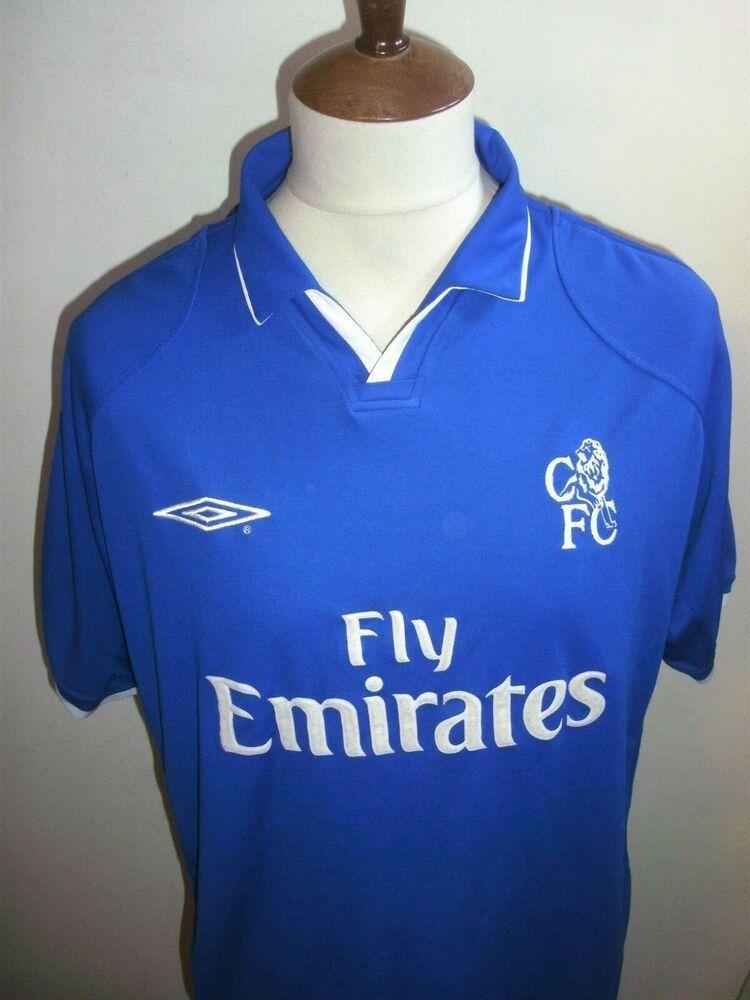 new styles dde65 cf9ee CHELSEA FOOTBALL SHIRT SIZE XL 2001 #fashion #sports ...