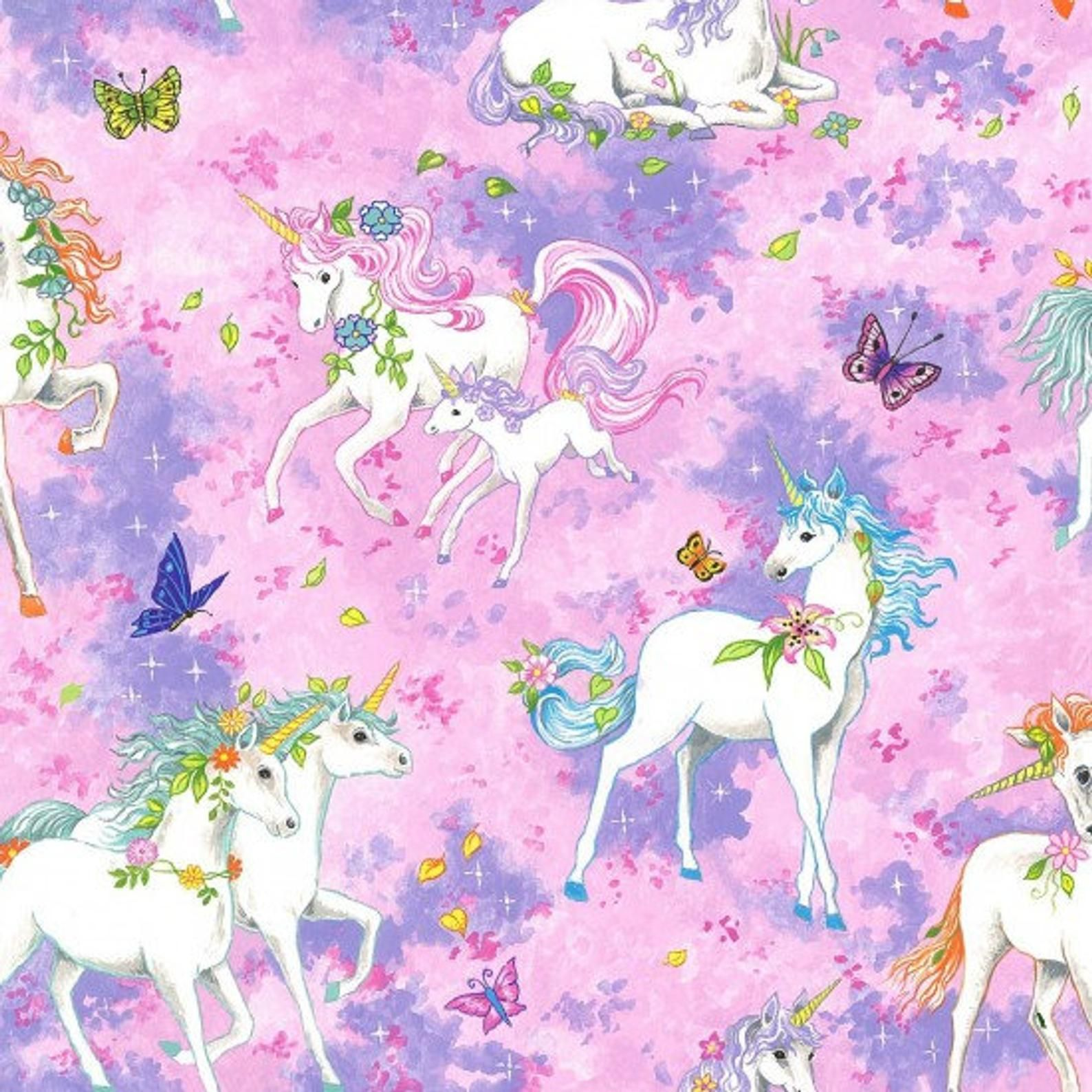 Quilting 1 metre of UNICORNS on PINK,100/% COTTON FABRIC,Sewing,PATCHWORK,Craft