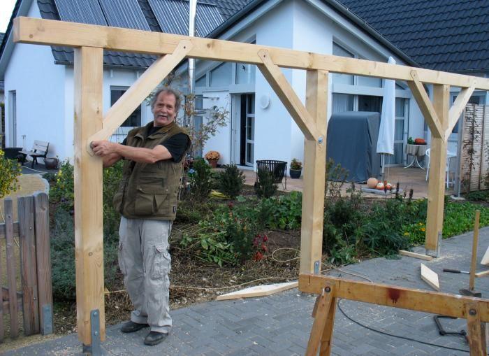 tragwerk f r carport mit bild carport pinterest carport carport selber bauen und tragwerk. Black Bedroom Furniture Sets. Home Design Ideas