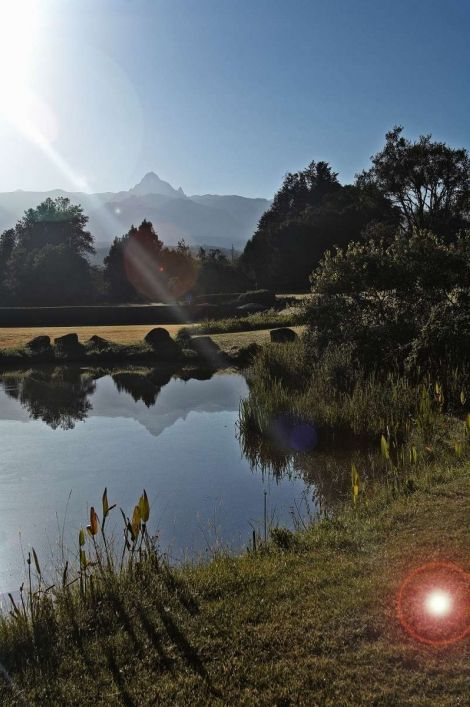 View From The 100 Acre Garden At Mount Kenya Safari Club Hotel
