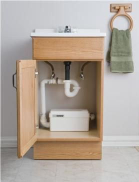 Sanishower Light Duty Water Pump Basement Bathroom Remodeling