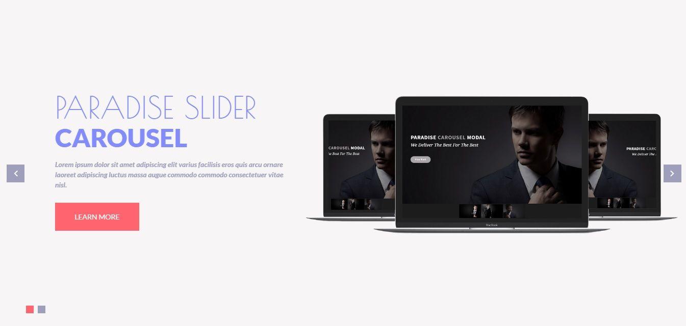 Single thumbnail slider