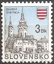 Stamp: Banská Bystrica (Slovakia) (Definitive Issues - Towns) Mi:SK 206,Sn:SK 153,Yt:SK 170,Sg:SK 146C,AFA:SK 187,POF:SK 45