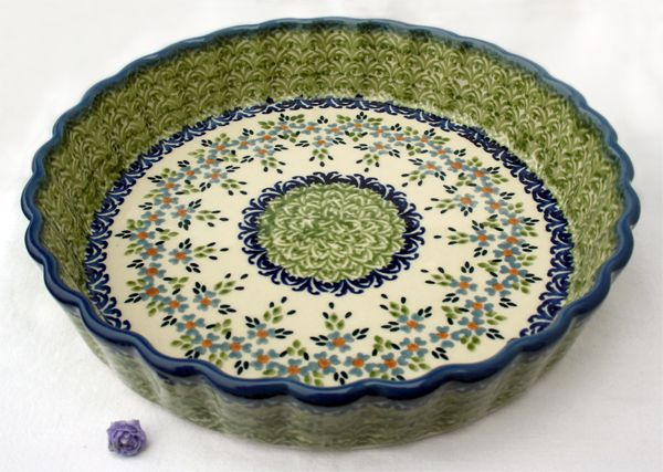 Do You Like The Olive Green This Baker Is Awesome Polish Pottery Delectable Polish Pottery Patterns