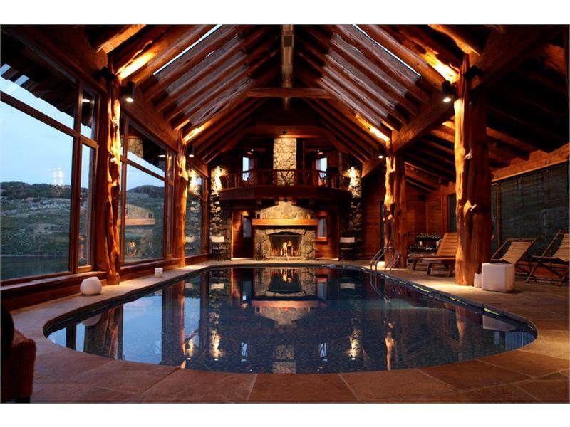 Log Cabin Floor Plans With Indoor Pool