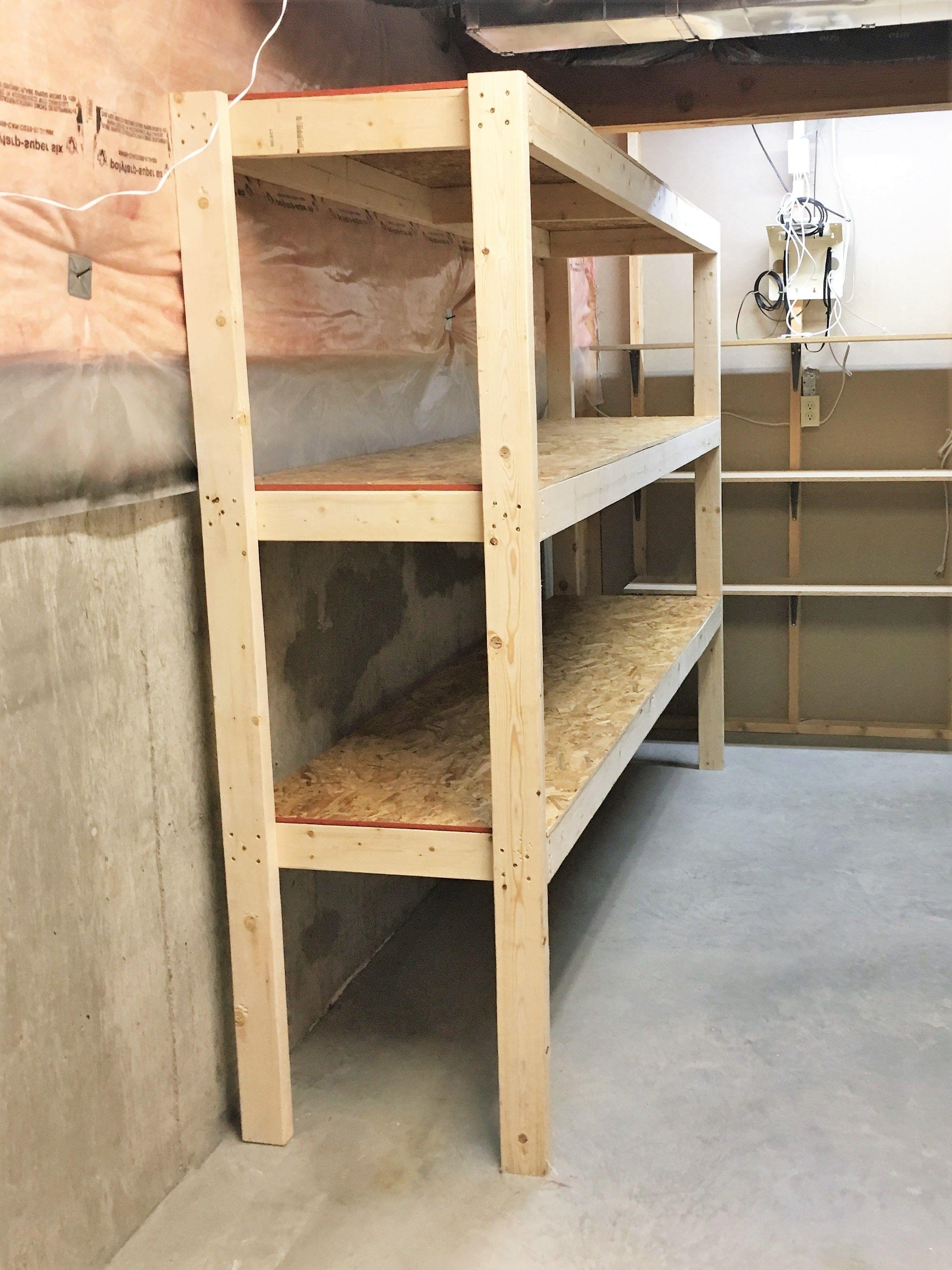 Diy Storage Easy Extra Space Storage Shelves Wooden Storage Shelves Diy Storage Shelves Garage Storage Shelves