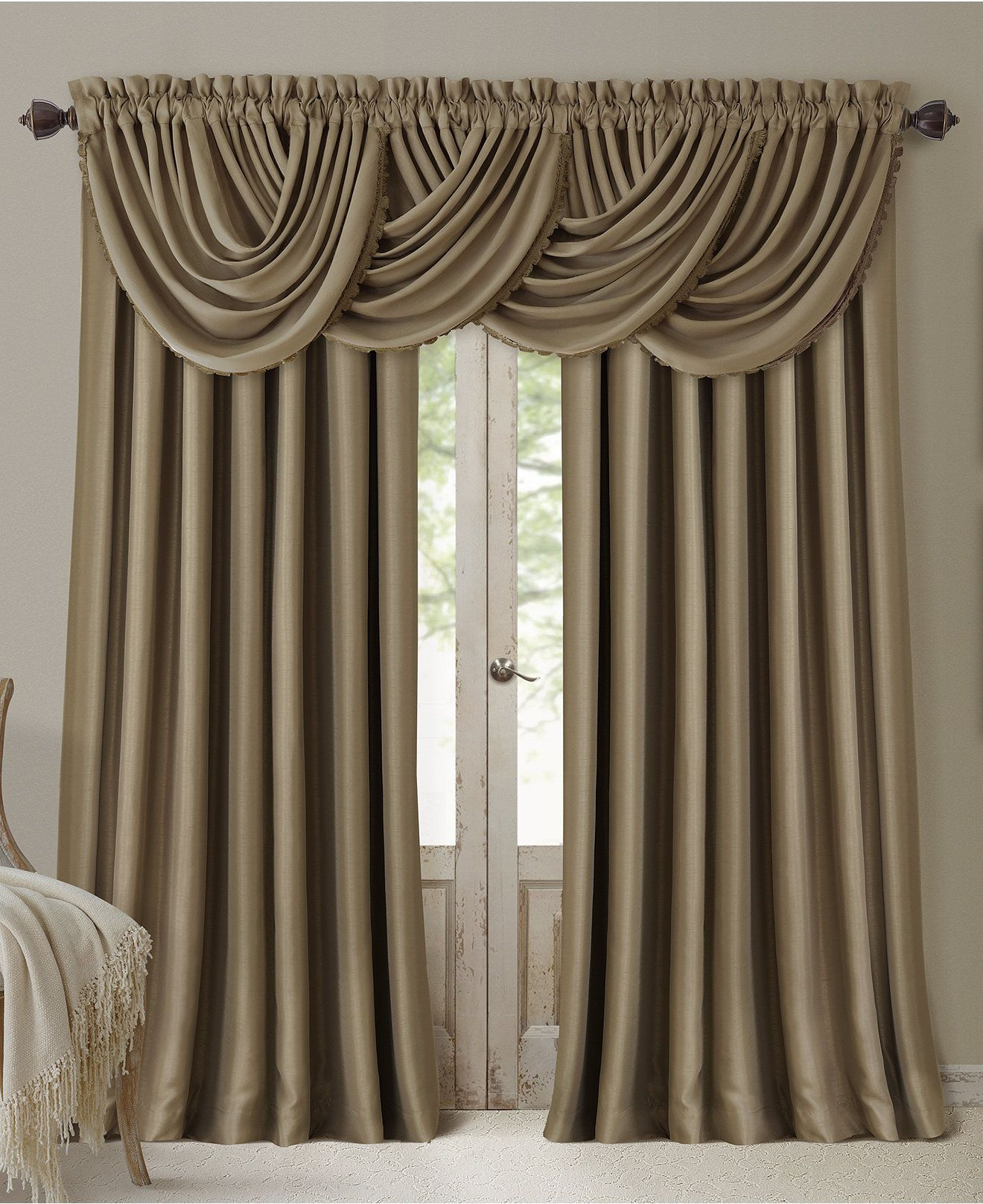 Volant Gardine All Seasons Faux Silk Blackout Window Panel Collection Gail