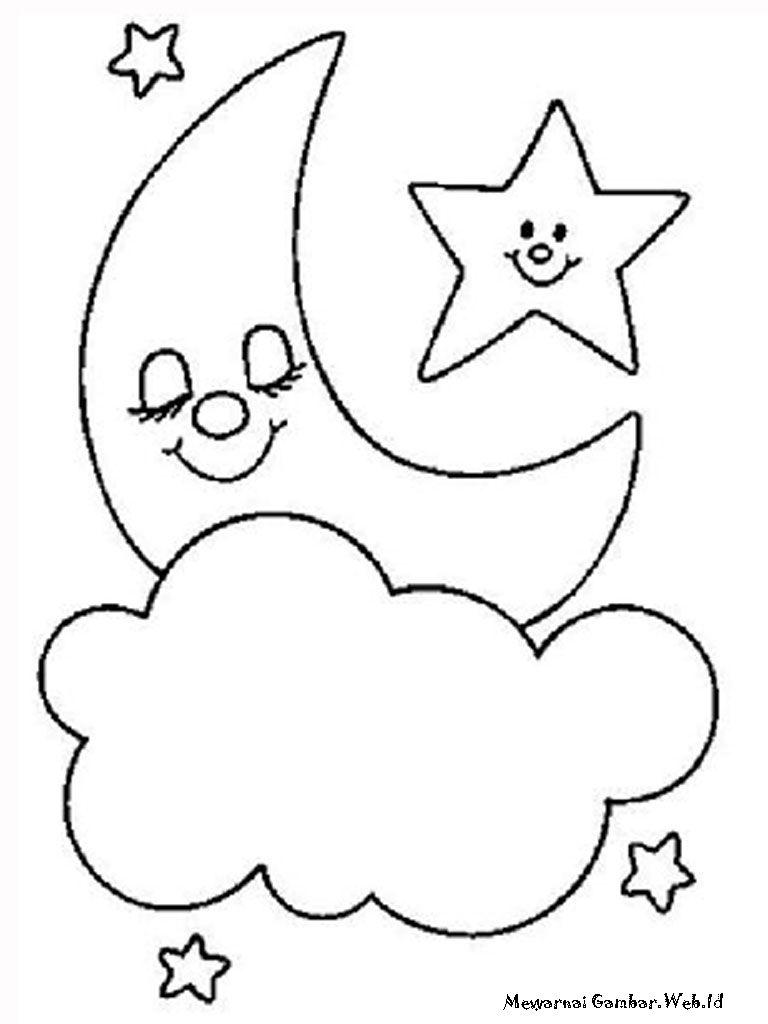 Gambar Kartun Bintang Untuk Mewarnai 768—1024 Di 2020