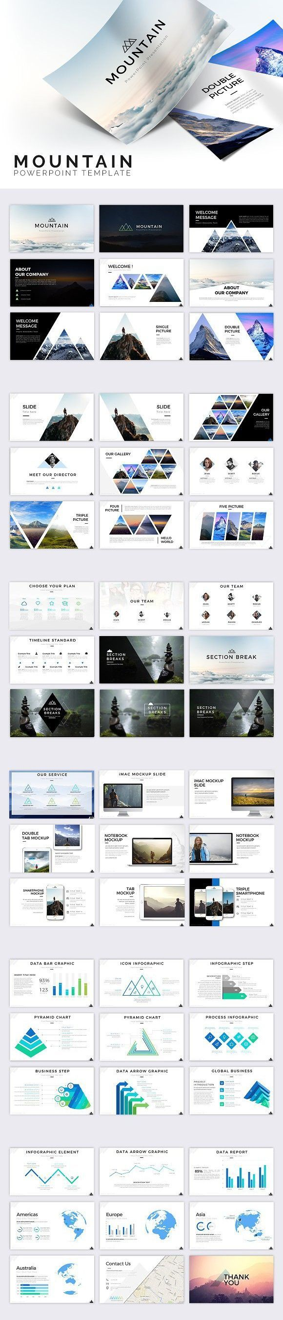 Mountain Powerpoint Template Presentation Templates  Design Ppt