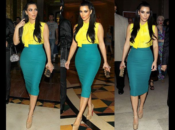 turquoise pencil skirt | colourful outfits | Pinterest | Yellow ...