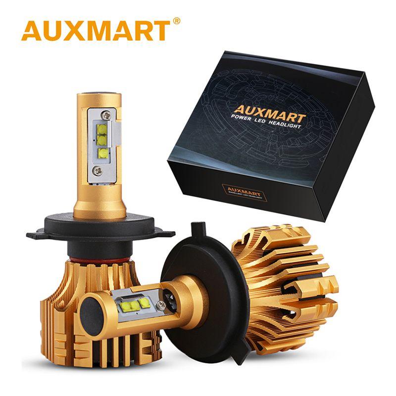 Auxmart Faro H7 H4 Ha Condotto La Lampadina H11 H1 9006 Hb4 9005 Hb3