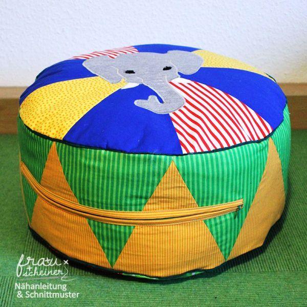 Bodenkissen selber machen  Zirkuskissen | Bodenkissen, Sitzkissen und Nähanleitung